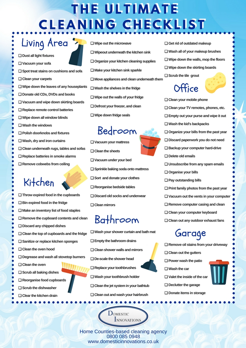 Spring Cleaning Schedule Printable